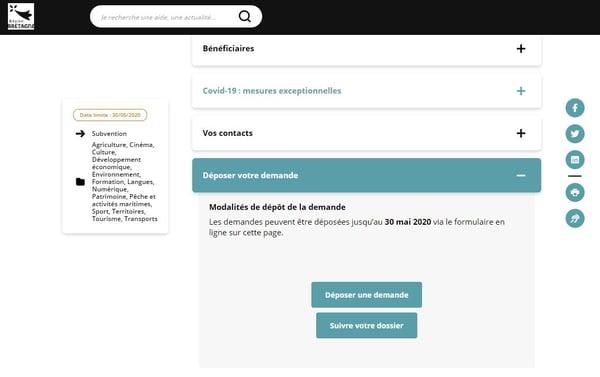 Geirec- demande aides TPE Bretagne